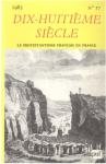 Dix-huitième Siècle, 17 - Le protestantisme français en France