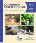 Courrier scientifique du Parc naturel régional du Luberon et de la Réserve de biosphère Luberon-Lure, 7 - Bulletin n°3