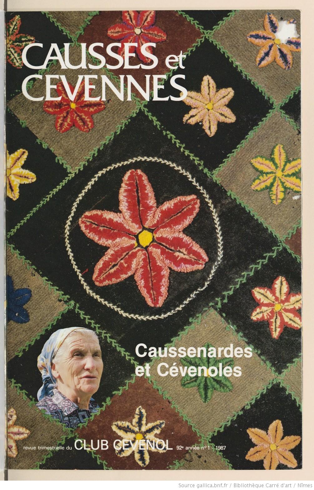 Causses et Cévennes, 1 tome XVI - janvier-février-mars 1987 - Bulletin N°1 tome XVI
